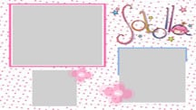 Pink Girl Collage Template