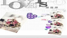 Love wedding scrapbook template