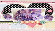 Sweet heart wedding template