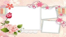Flower Scrapbook Template for Pets