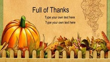 Full of Thanks Scrapbook Template