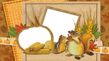 Thanksgiving Food Scrapbook Template