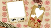 My Love Scrapbook Template