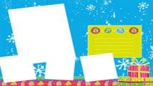 Cute Winter Collage Template