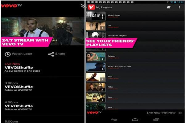 vevo watch free videos