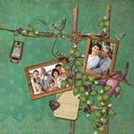 Family &; love scrapbook templates