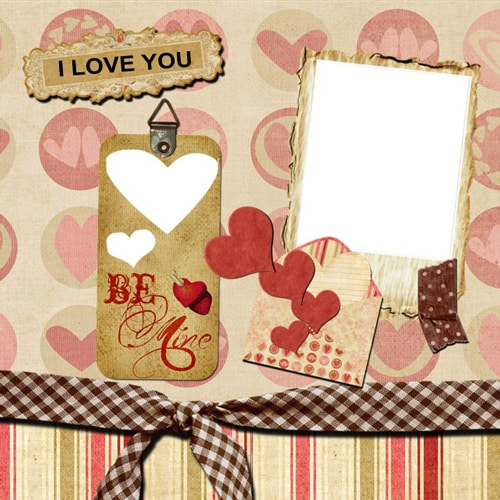 love scrapbook templates