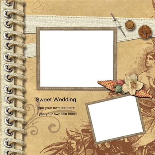 wedding scrapbook templates