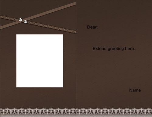 greeting card scrapbook templates