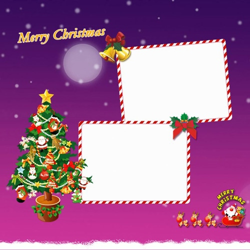 Christmas scrapbook templates