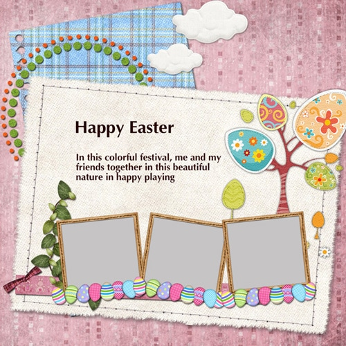 easter scrapbook templates