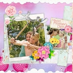 Mother's Day Scrapbook Templates