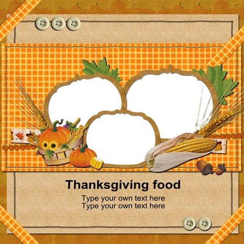 Thanksgiving scrapbook templates