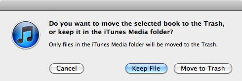 delete duplicates itunes