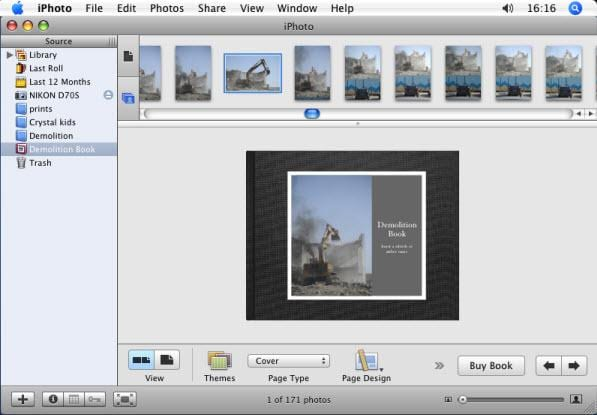 iphoto photo book theme