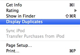 itunes display duplicates