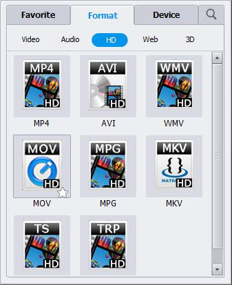 MKV to TS converter, TS output