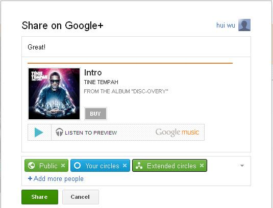 share google music from android market