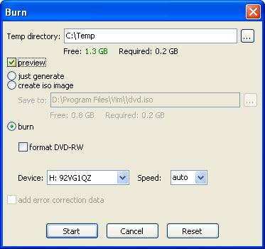 dvd styler burn
