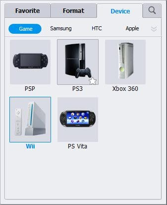 choose Wii as the format