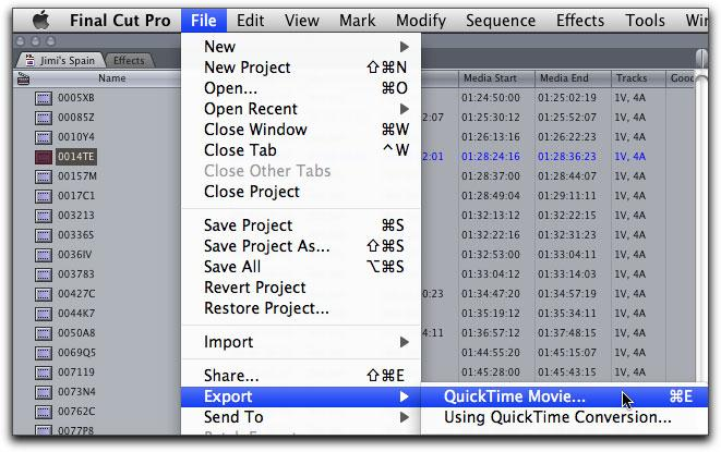 fcp to dvd export