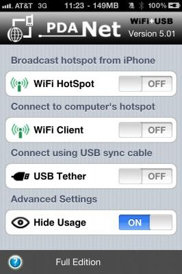 pdanet iphone tethering
