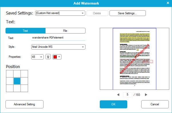 add watermark to PDF