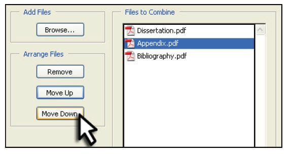 combine PDF files in adobe acrobat