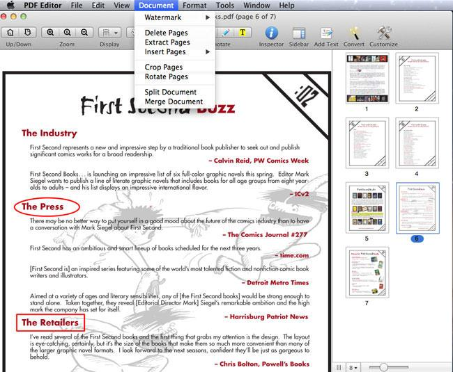 merge PDF in Mac