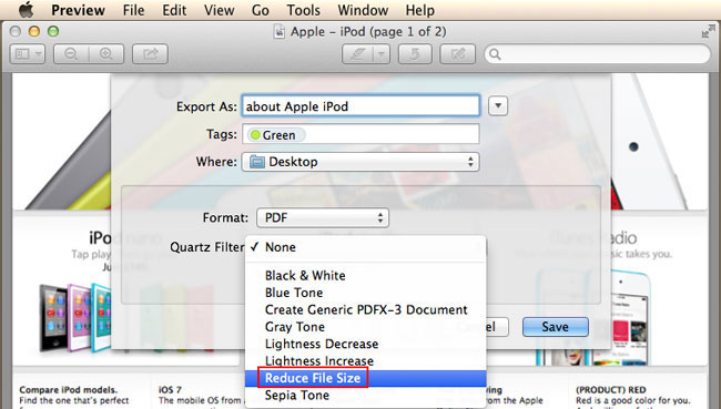 compress PDF in Mac