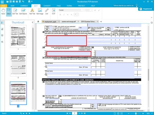 create fillable PDF form