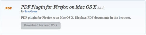 open PDF in FireFox in Mac