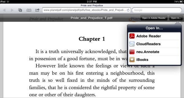 save pdf on ibooks