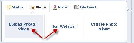 upload facebook photo video