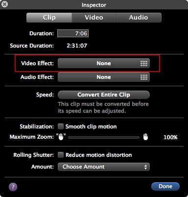 how to add light effects in imovie