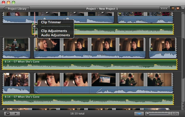 adjust a voiceover in iMovie