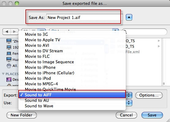 extract audio in imovie
