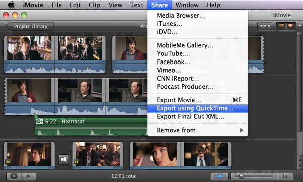 export audio from imovie