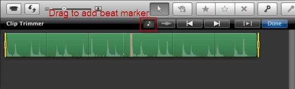 add beat marker in imovie