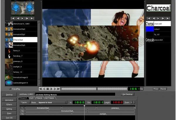 software video editing CineFX Jahshaka
