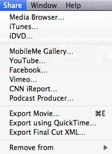 export imovie to video