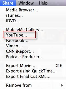 convert imovie to youtube