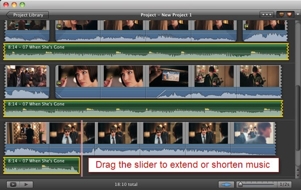 add audio to iMovie