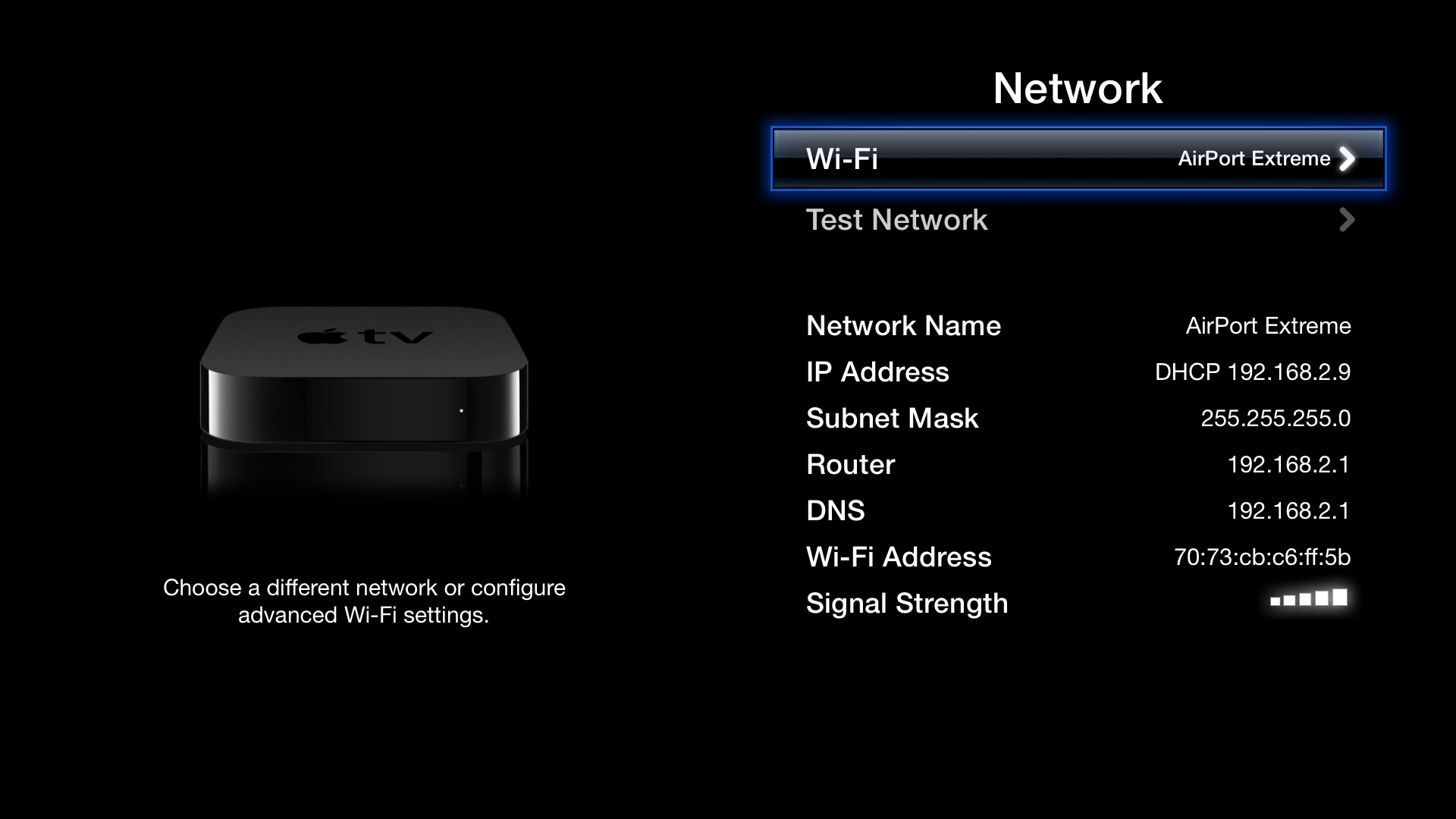 Apple Tv Settings