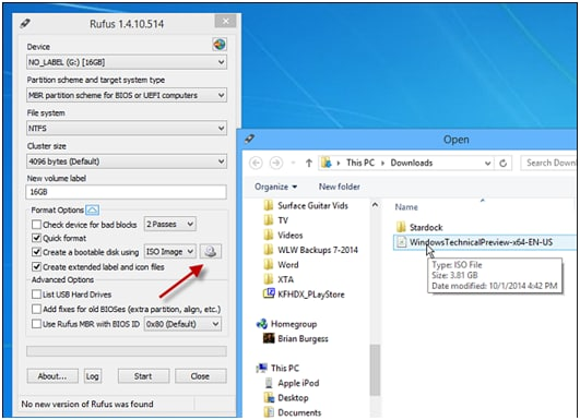 Best way to burn Windows 10 Insider Preview to USB Flash Drive
