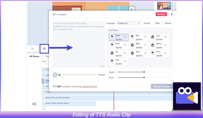 Editing of TTS