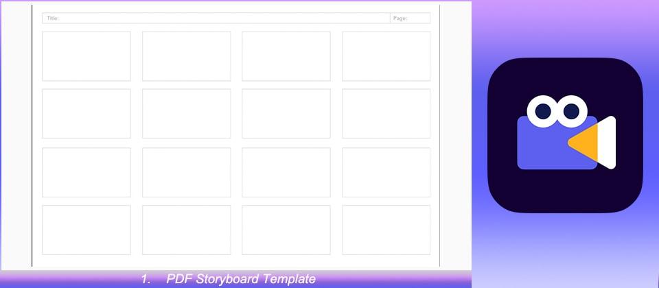 PDF Storyboard Template