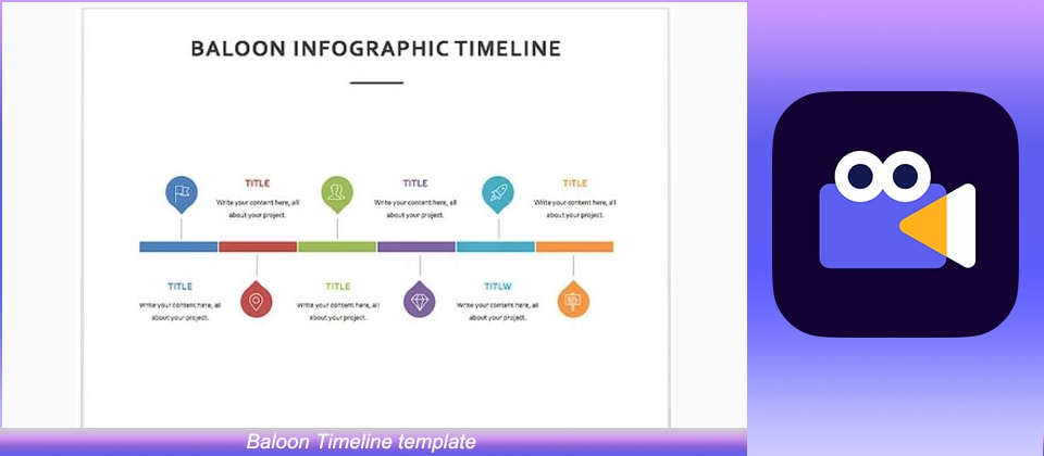 Baloon Timeline template