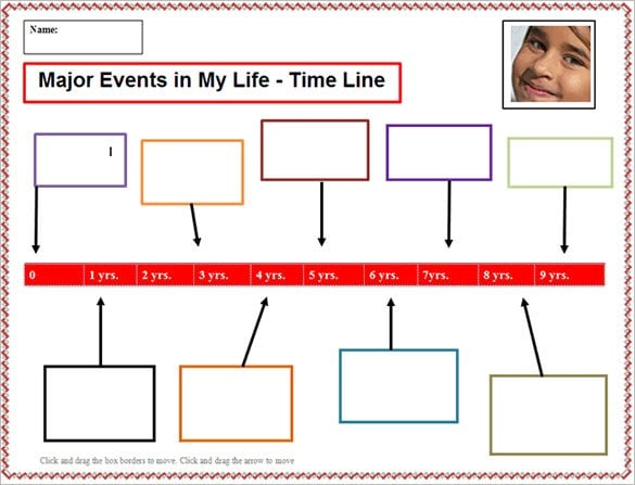 personal-timeline-template