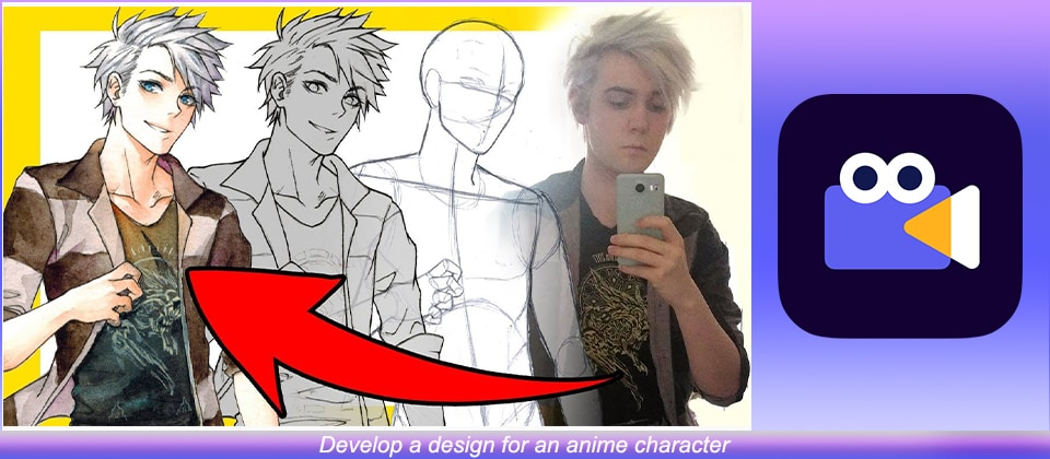 design for an anime character